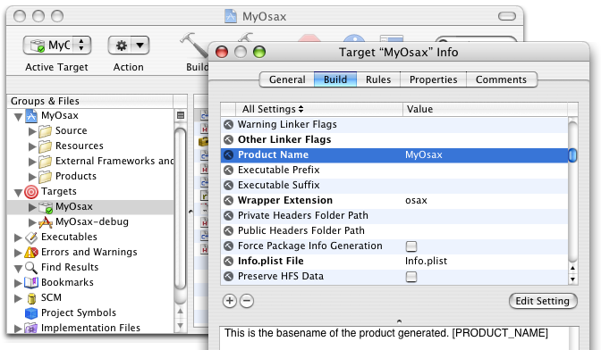 Introduction to the XCode projects